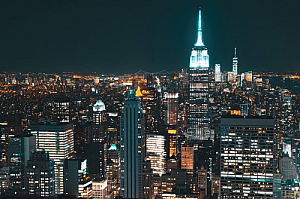 new york city night lights cityscape