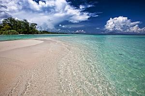 White tropical sandy beach