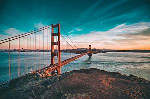 san francisco california golden gate bridge water
