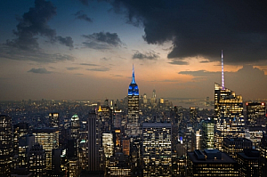 new york city night lights cityscape skyline