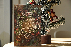 Christmas card and tree