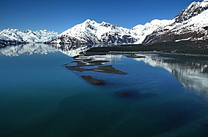 Lake surrounded by mountains in Alaska