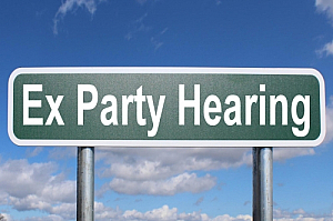 ex party hearing