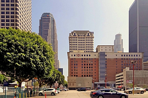 los angeles california offices downtown skyscrapers