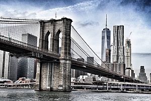 new york city brooklyn bridge river